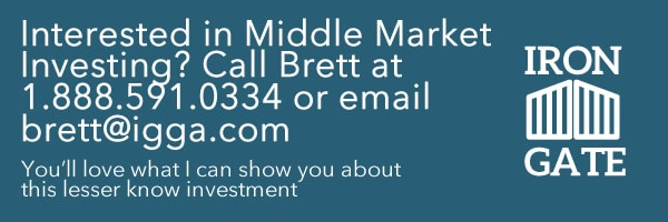 Contact Brett for Middle Market Investing