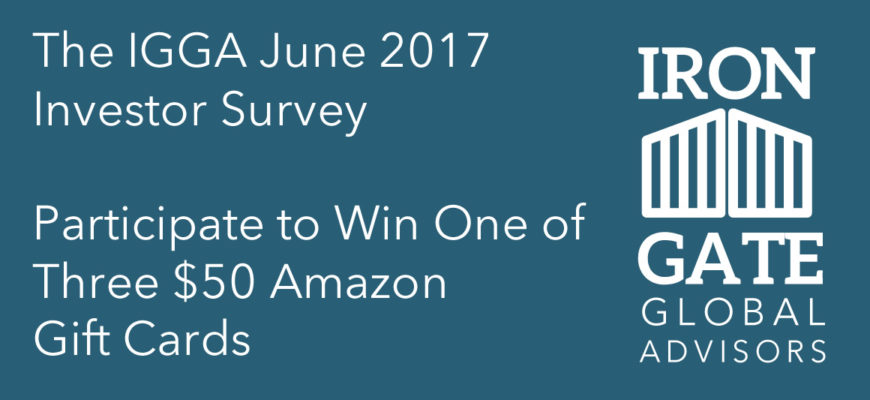 Iron Gate Global Advisors June Survey – Enter For A Chance At A $50 Amazon Gift Card